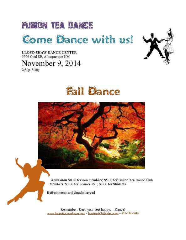 Fusion Tea Danceflyer Nov 2014
